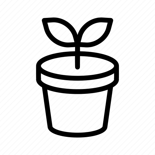 growth, plant, pot icon