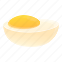 boiled, egg, farm, food, heart, love icon