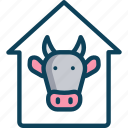 agriculture, cattle, cow face, cow farming, pet icon