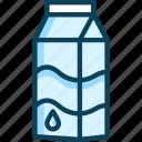 milk, milk bottle, milk box, milk carton, milk container icon