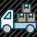 treveller, truck, truckbox, truckpickup, vechile icon