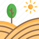 agricultural land, farm field, farm land, landscape, yard icon