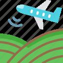 aerial seeding, agricuture, airplane seeding, farming, seeding from air