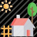 barn, farm house, garden, garden house, garden tool icon
