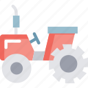 agricultural tractor, tractor, transportation