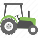 agricultural tractor, agronomics, farming transportation, ploughing machine, tractor icon