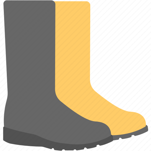 farmer boots, garden boots, gumboots, rain shoes, rubber boots icon
