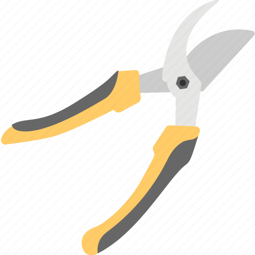 agriculture garden tool, gardening tool, hand tool, pruning plier, pruning shear icon