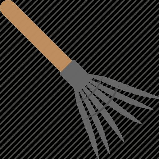 cultivator, garden equipment, garden tool, leaves rake, pitchfork icon
