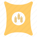 farming, flour bag, food, grain sack, wheat bag icon