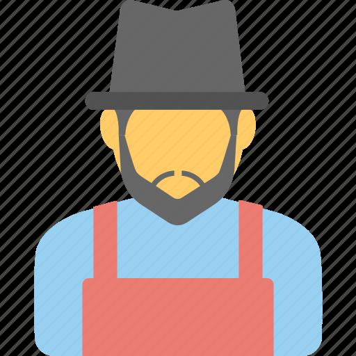 agrarian, agriculturist, farmer, peasant, profession icon