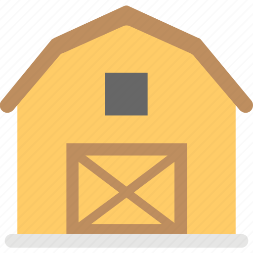 agricultural building, barn house, byre-dwelling, house barn, townhouse icon