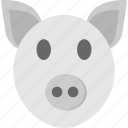 animals, cattles, dairy farm, livestocks, pig face icon