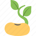 agriculture, cultivation, farming, seed growth, sprouting seed icon
