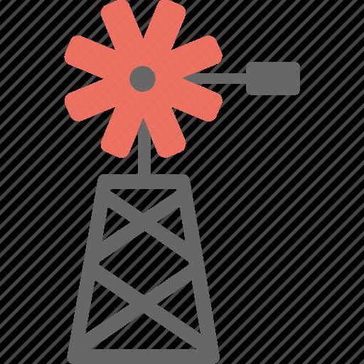 energy converter, farming, water pumping machine, wind power generator, windmill icon