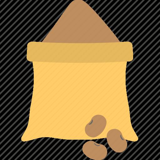 farming stock, food storage, grains sack, rye bag, seed sack icon