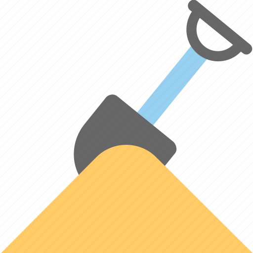 agriculture, digging, farming concept, gardening, spade with soil icon