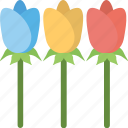 agriculture, flower growing, gardening, planting, rose plant icon