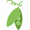 fresh peas, natural food, peas, peas seeds, vegetable icon