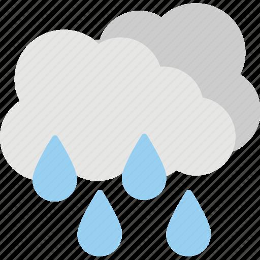rain, rain cloud, raindrops, rainy weather, weather icon