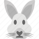 animal, bunny head, hare, rabbit face, wildlife icon