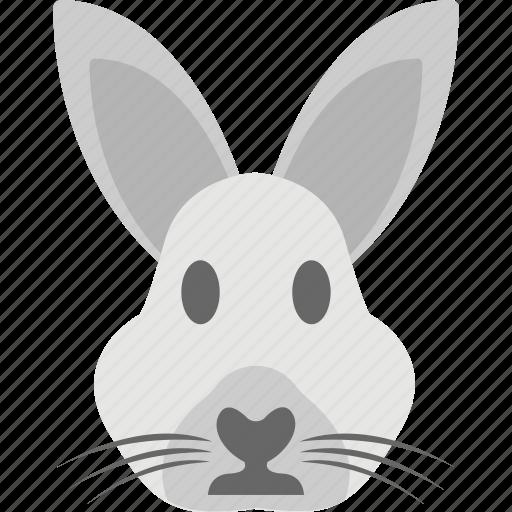 animal, bunny head, hare, rabbit face, wildlife icon