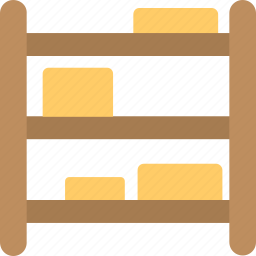 industrial distribution, inventory concept, packaging, storage rack, warehouse shelf icon