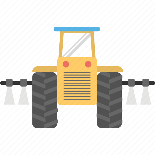 agricultural machinery, cultivation equipment, farming aids, plower, plowing tractor icon