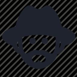 farm, farmer, hat, head, human, man, person icon