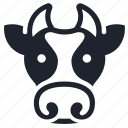 animal, character, cow, farm, farming, head, milk icon