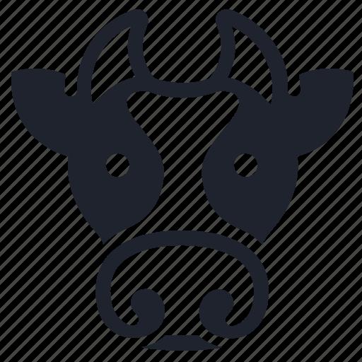 animal, character, cow, farm, farming, head, milk icon