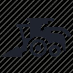 farm, farming, harvester, heavy, machine, vehicle icon