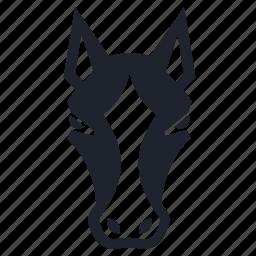 animal, farm, farming, gee, head, horse, race, steed icon