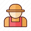 agriculture, farm, farmer, field, nature, tractor icon