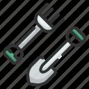 tools, garden, shoveling, shovel, agriculture