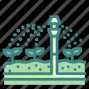 sprinkler, irrigation, gardening, watering, garden