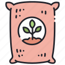 agriculture, farming, fertilizer, garden, growth, plant, soil icon