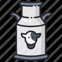 bucket, cow, drink, farm, fresh, healthy, milk