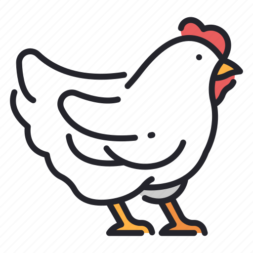 animal, chicken, farm, food, hen, meat, poultry icon