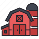 agriculture, barn, farm, farming, house, rural, wooden icon