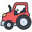 agricultural, agriculture, equipment, farm, machinery, tractor, vehicle icon