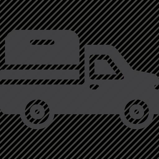 car, pickup, travel, truck, van icon