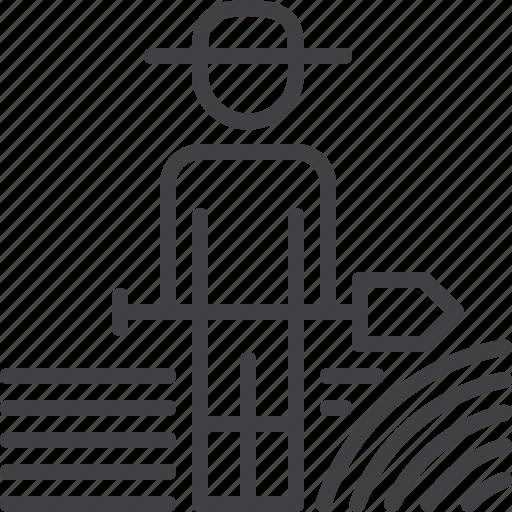 farmer, farming, gardening, shovel, tool icon