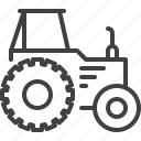 machinery, tractor, transport, truck, vehicle icon