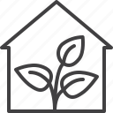 ecology, greenhouse, grow, house, plant icon
