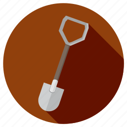 construction, equipment, repair, shovel, tool icon