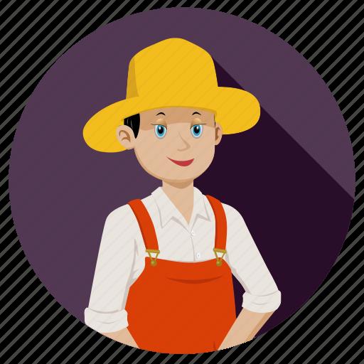 boy, face, farmer, person, smile, work icon