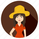 face, farmer, female, smile, wife, woman icon