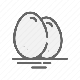 bunny, chicken, easter, eggs, food icon