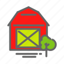 farm, farmhouse, food, house, store, storeage, tree icon